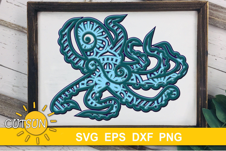 Download Multi Layered Mandala Octopus Svg For Cricut - Layered SVG ...