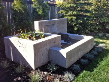 Concrete Water Feature Design Ideas, Could Do With Water Feature And  Firepit?