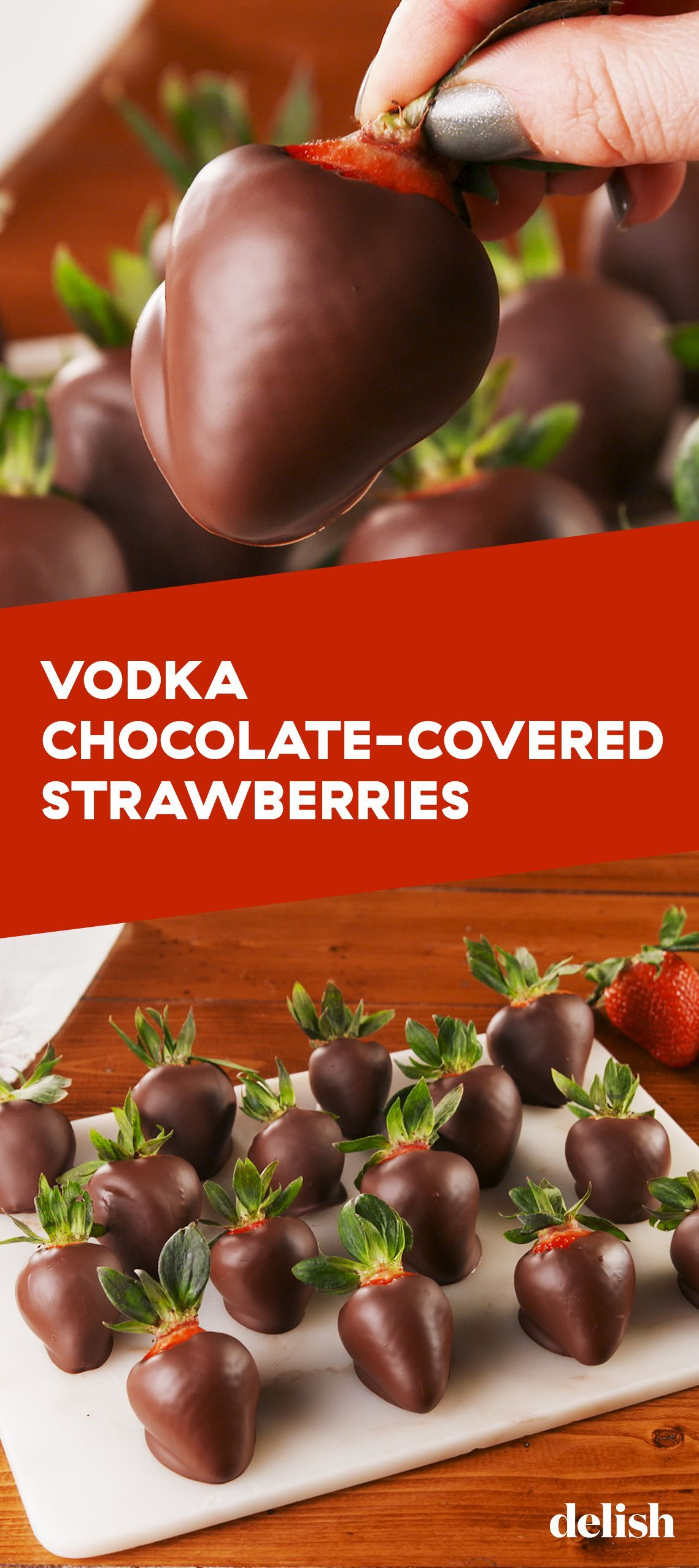 Wanna Have The Best Valentines Day Ever? Make These Vodka Chocolate-Covered Strawberries