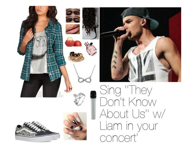 """Sing ' They Don't Know Abouts Us' with Liam"" by myllenna-malik ❤ liked on Polyvore featuring Payne, Swarovski, Full Tilt, Vans, NARS Cosmetics, Eos, GUESS and Effy Jewelry"