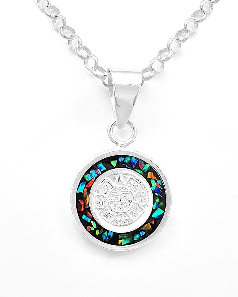 Two sided mesoamerican opal aztec calendar pendant jewelry taxco two sided mesoamerican opal aztec calendar pendant jewelry taxco mexico handmade azteccalendar aloadofball Images