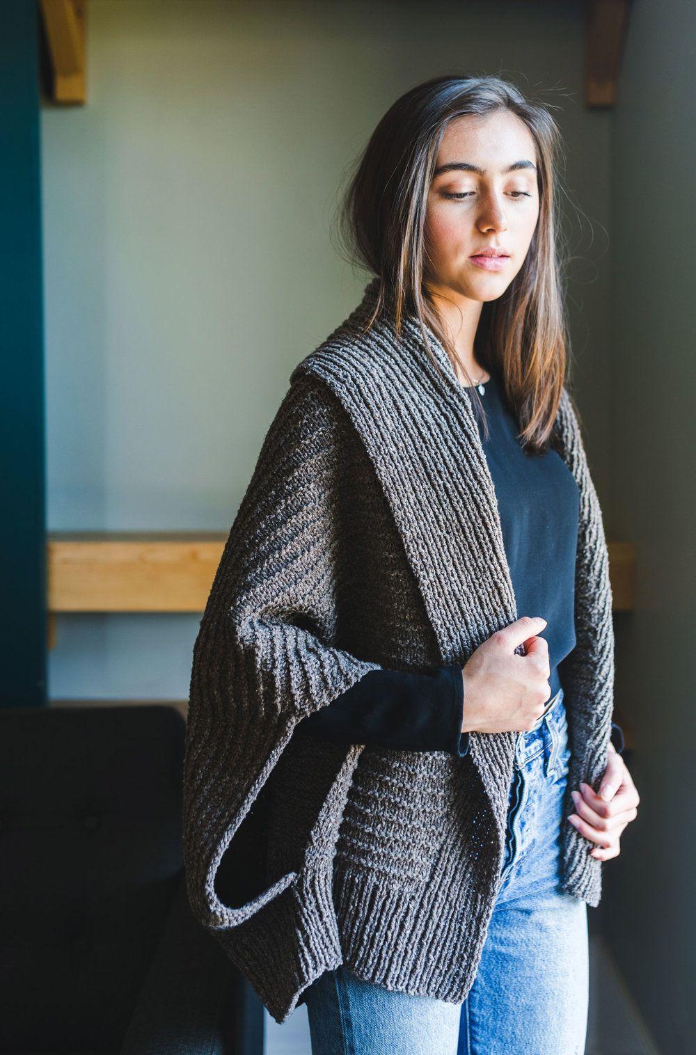 Veronika Cardigan PDF Knitting Pattern | Shawl, Stitch and Knitting ...