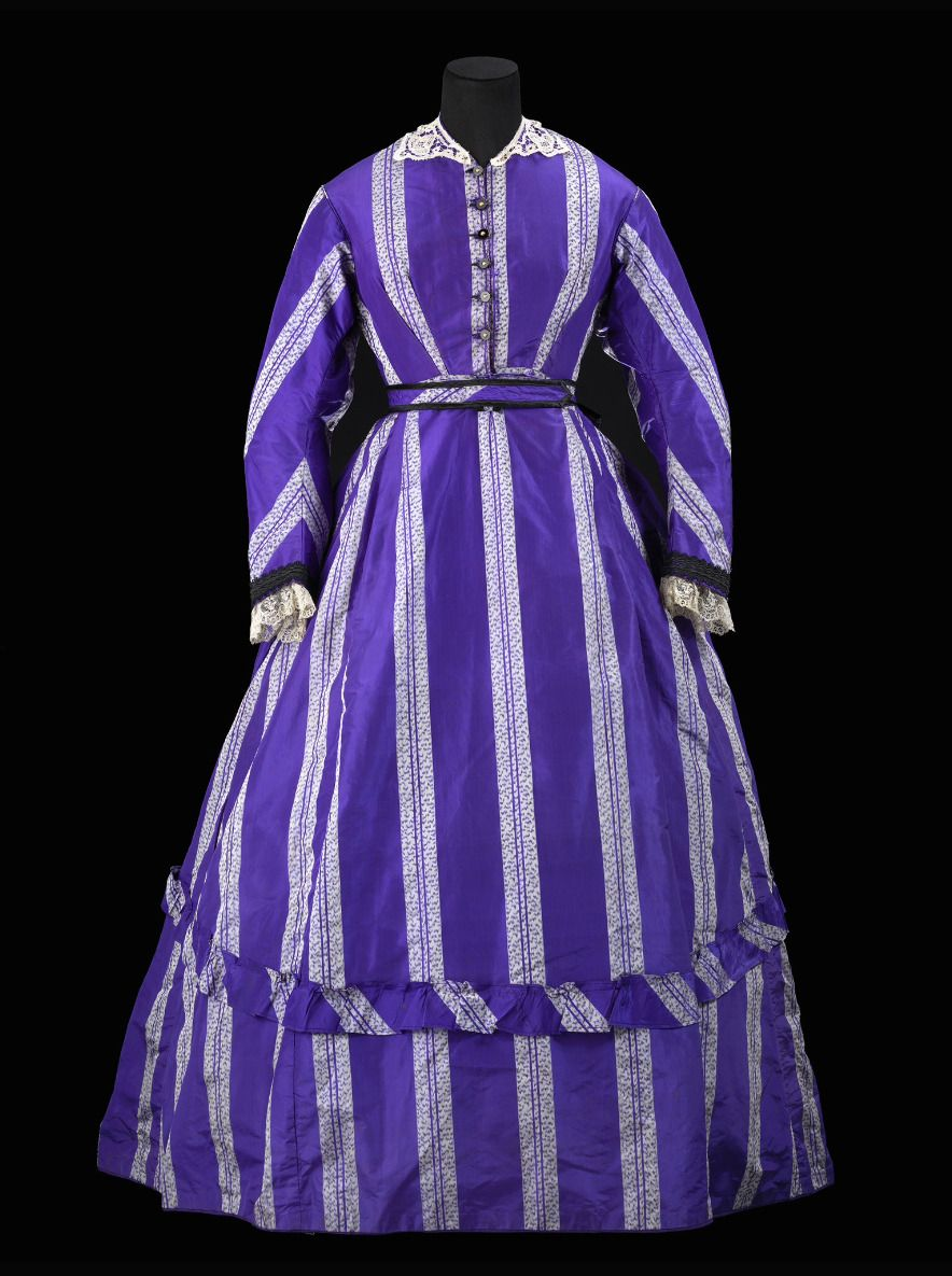 "Fripperies and Fobs — Walking dress ca. 1868 From the exhibition ""A ..."