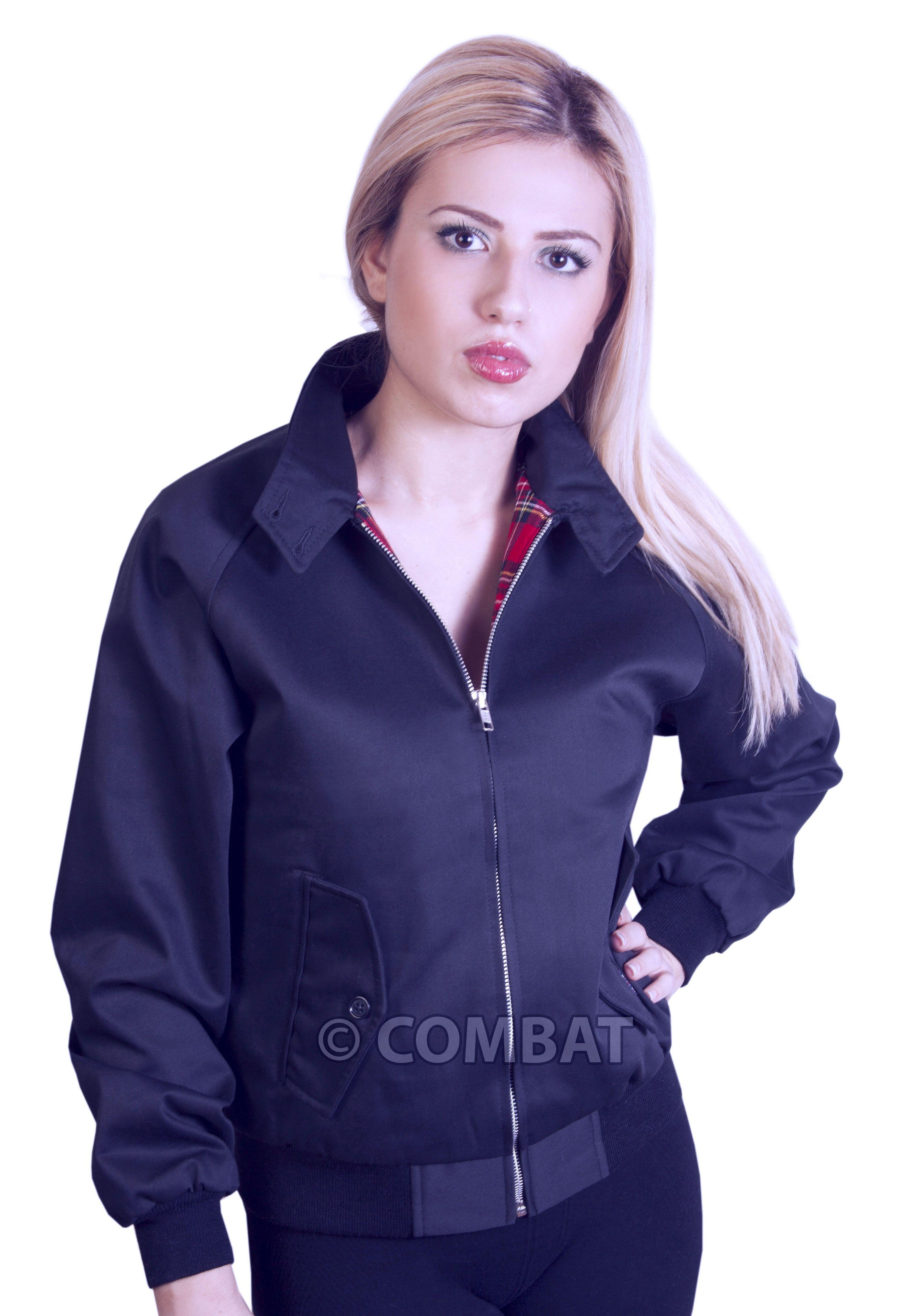 Ladies Girls Navy Harrington Jackets. Ladies Harrington Jacket ...