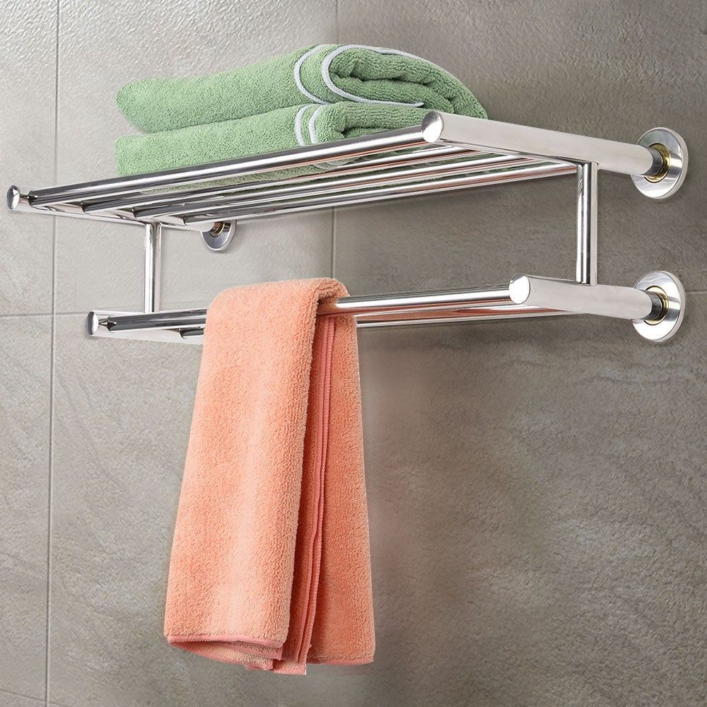 Wall Mounted Stainless Steel Towel Storage Rack Towel Rack Towel Storage Towel Rack Bathroom