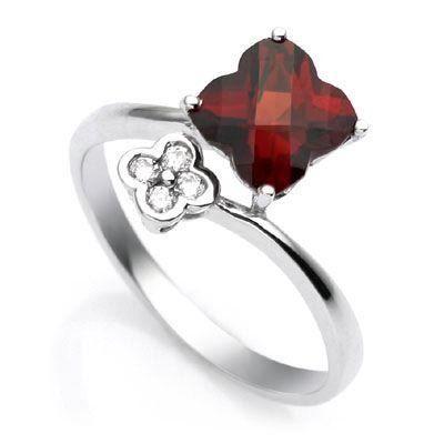 18k White Gold Clover Shaped Garnet and Diamond Bypass Ring Size 6.5 Luxury Lane, http://www.amazon.com/dp/B001KO3E30/ref=cm_sw_r_pi_dp_FmXerb08Q04T6