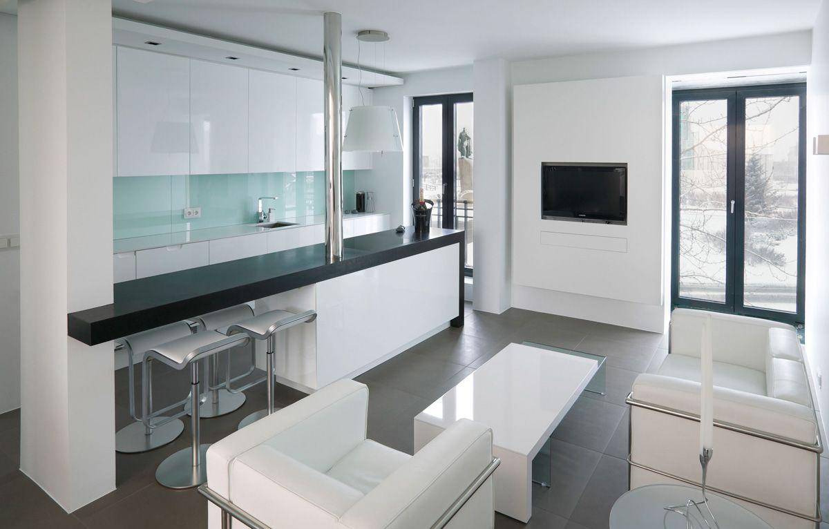 Open Plan Living Kitchen Modern Apartment In Reykjavik Iceland Apartment Interior Design Apartment Interior Apartment Interior Decorating
