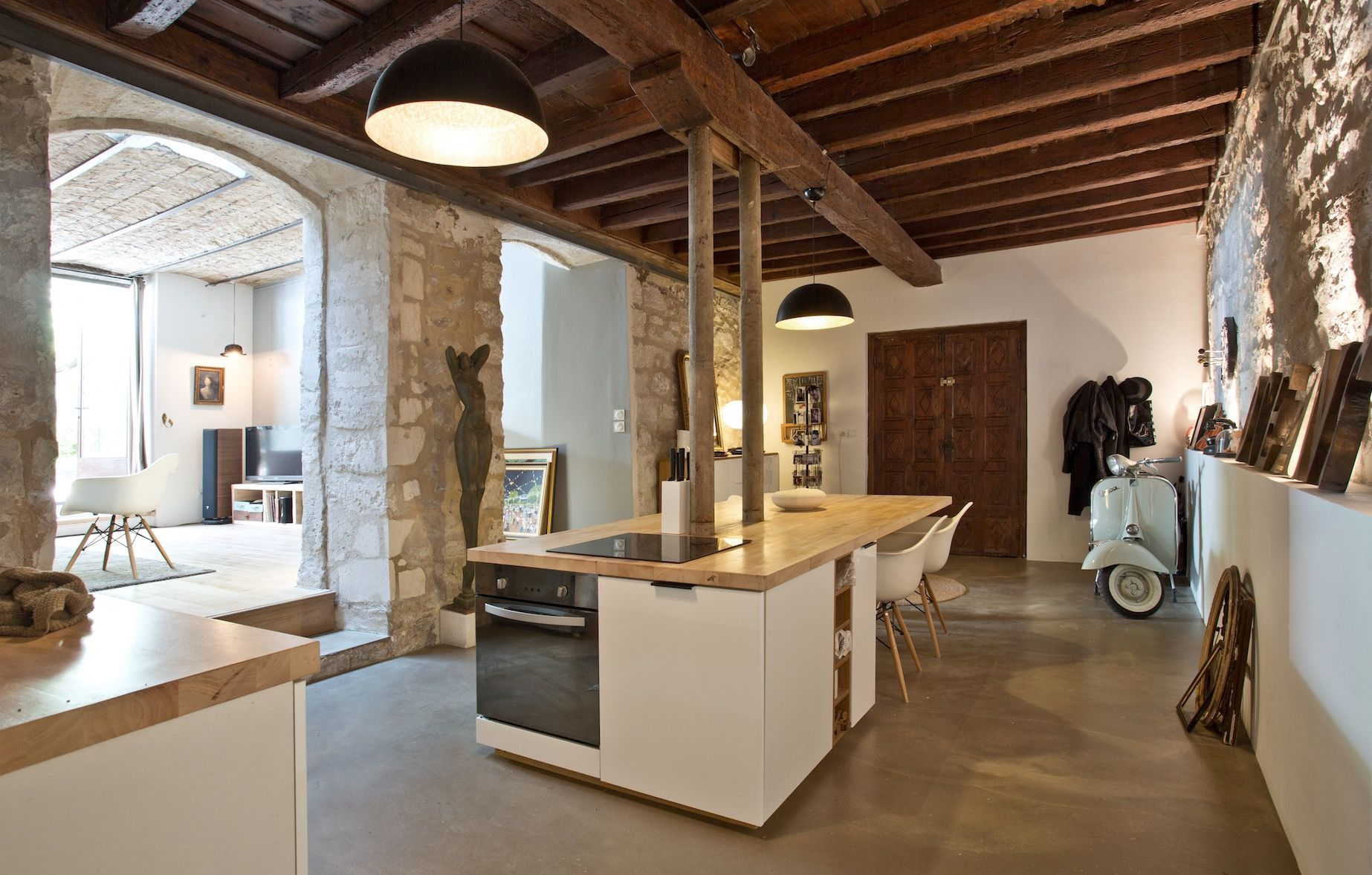 aménagement cuisine contemporain architecture intérieur sud de la ...