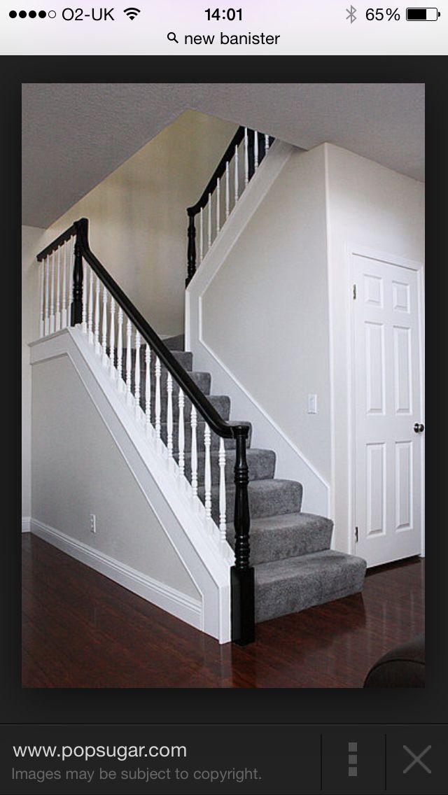 Have Short Side In Living Room Stair Banister Black