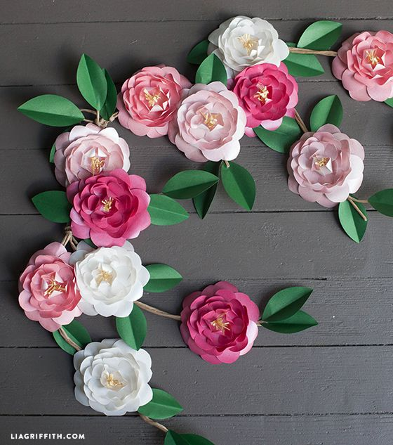 Diy metallic paper camellias paper flower garlands flower diy metallic paper camellias mightylinksfo Choice Image