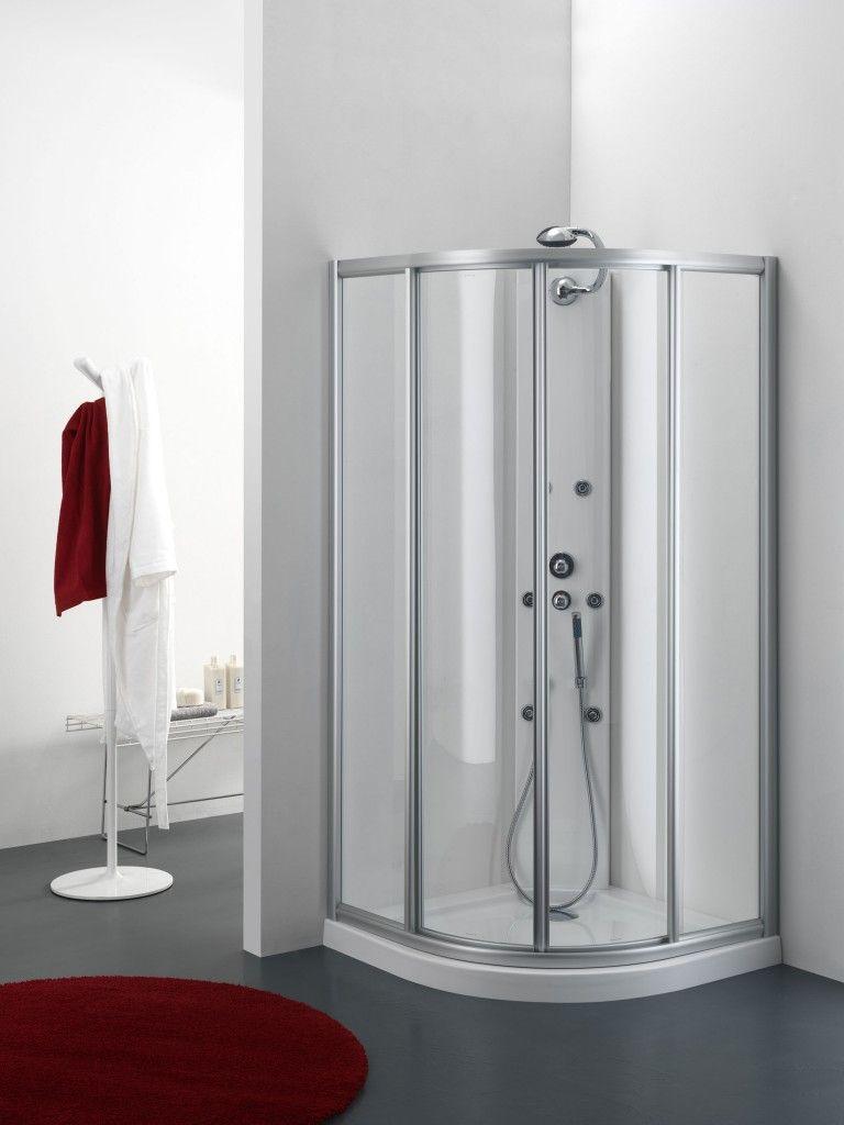 Box doccia Semicircolare GULITER con porte scorrevoli da