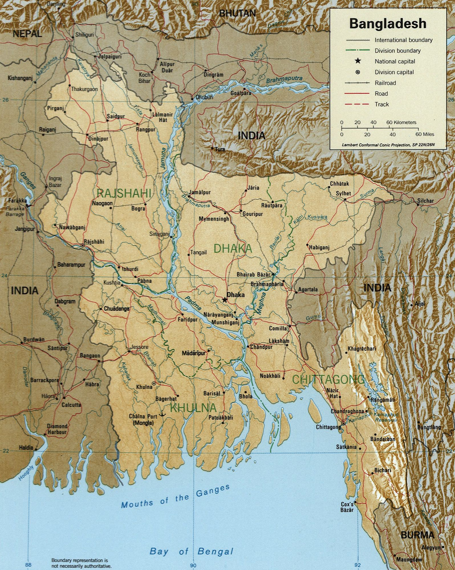 topographic map of bangladesh Bangladesh Geography Facts Google Search Asia Map India Map