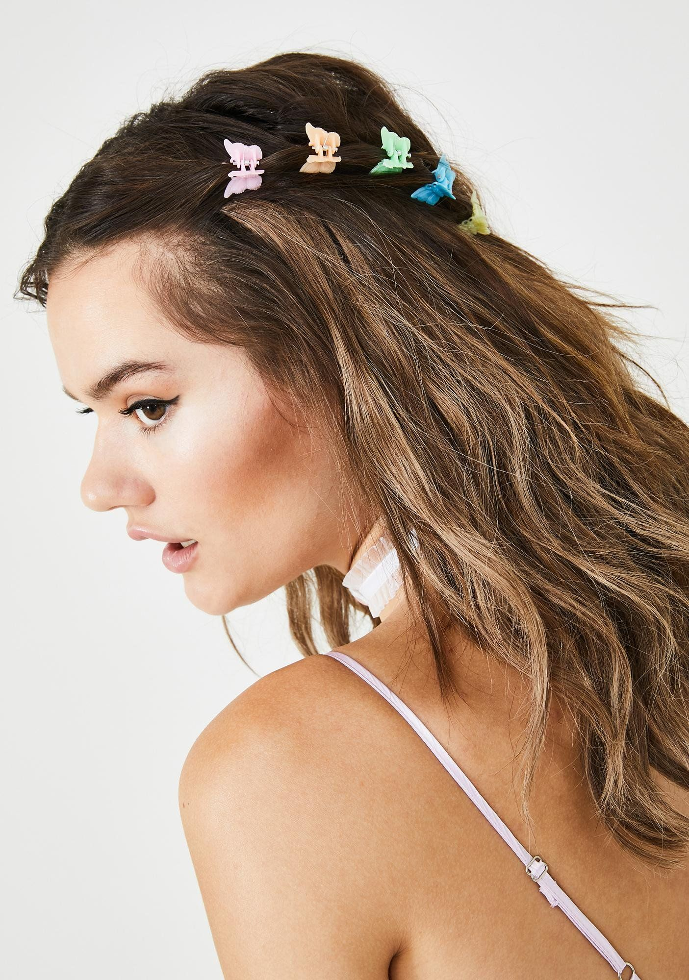 Fly Me Away Butterfly Hair Clips Clip Hairstyles Hair Styles Aesthetic Hair