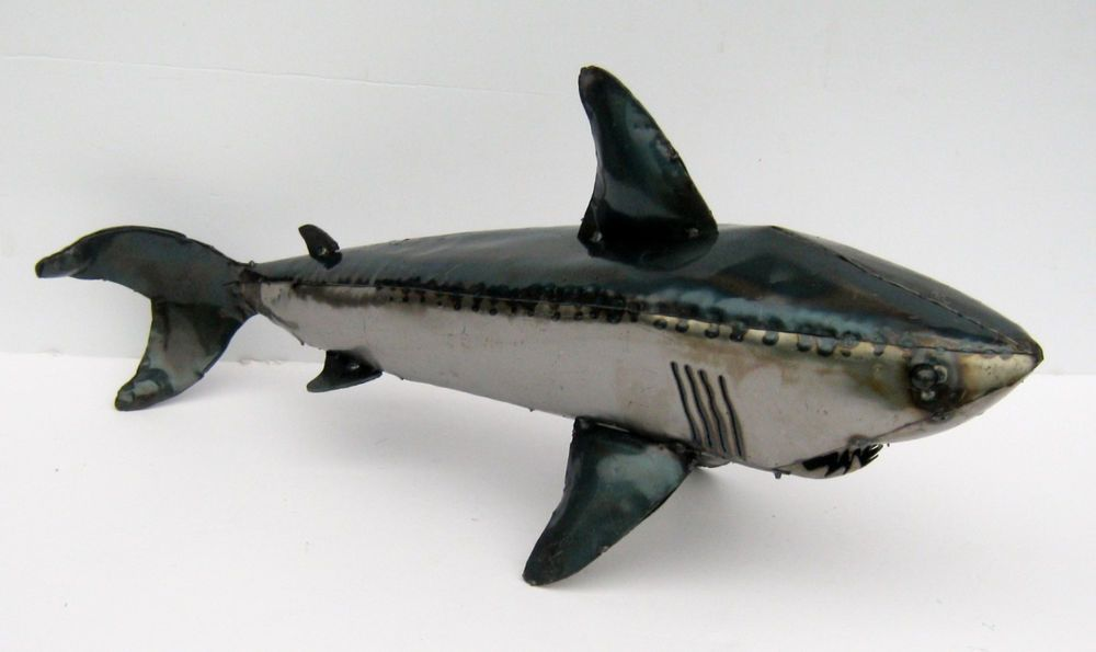 Metal art shark sculpture animal figure 36 yardart