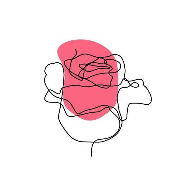 Symbol Doodle Concept Background Art Vector Illustration Flower Design Template Rose Nature Isolated Li Line Art Drawings Flower Line Drawings Line Art Flowers