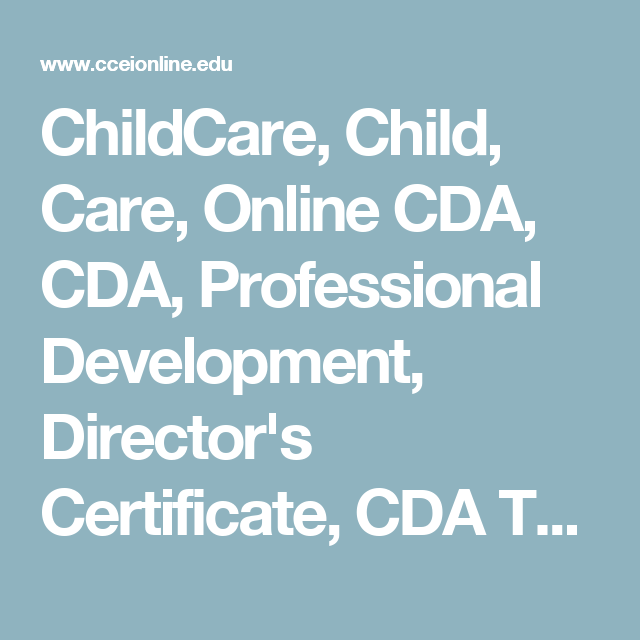 childcare, child, care, online cda, cda, professional development ...
