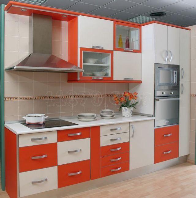 cocinas naranja con blanco - Buscar con Google | Ideas para el hogar ...