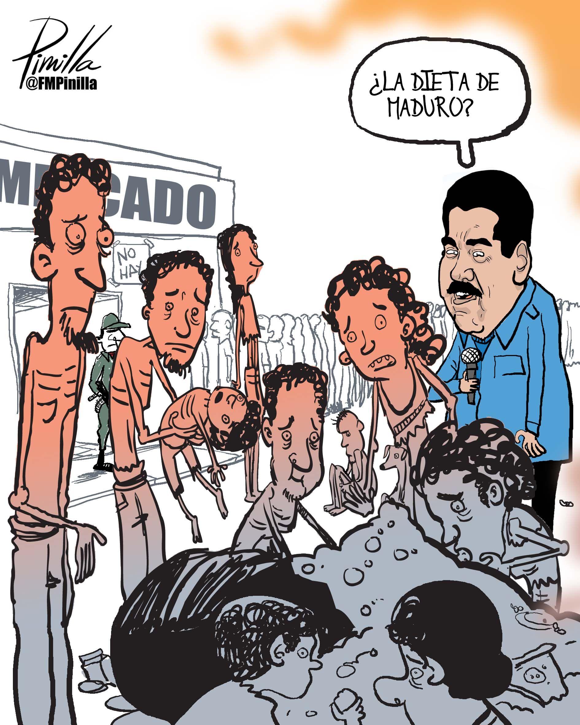 La Dieta De Maduro Nicolas Maduro Maduro Caricaturas