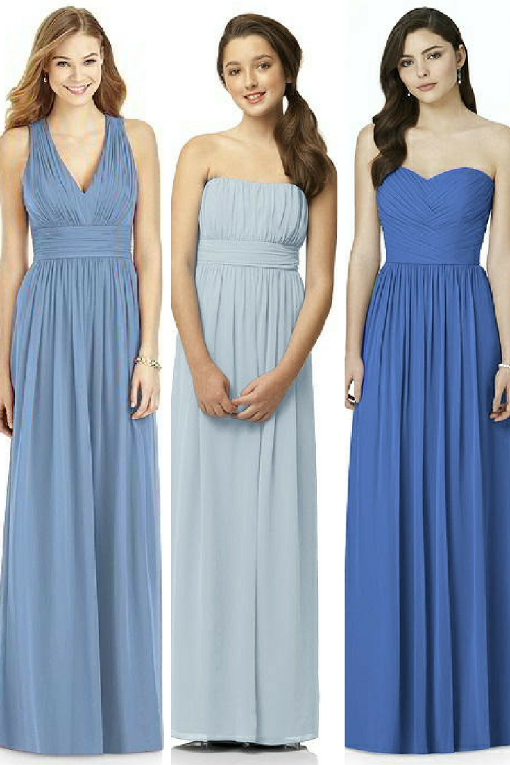 Hues of blue for your wedding day - blue bridesmaid dresses | BLUE ...