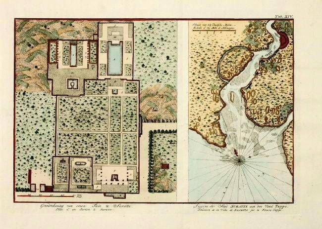 antique map of Surat Antique andor Cool Maps Pinterest