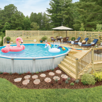 The Home Depot Pool Deck Plans Swimming Pool Decks Above Ground Pool Landscaping