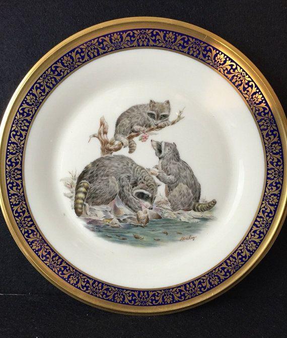 Lenox Boehm Woodland Wildlife Plate Vintage by AbundantLifeGifts