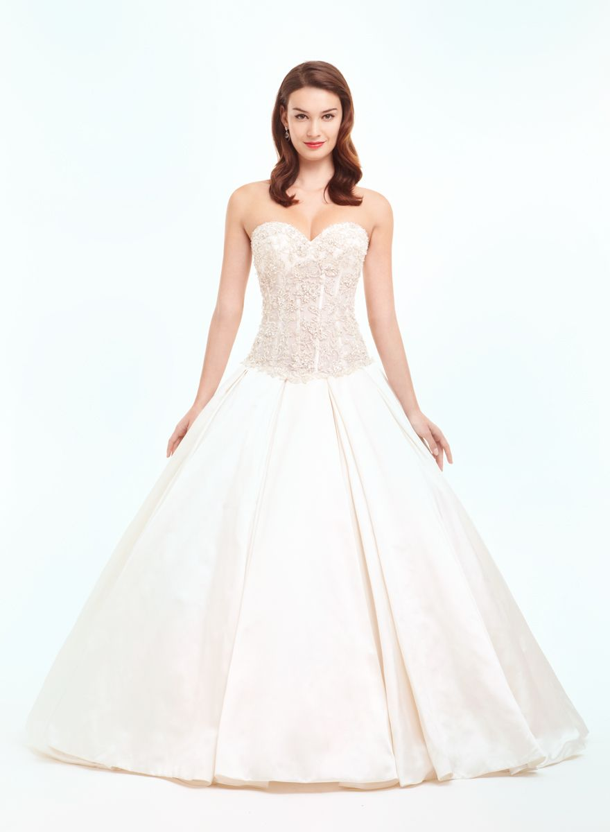 Bridal gowns danielle caprese princessball gown wedding dress with