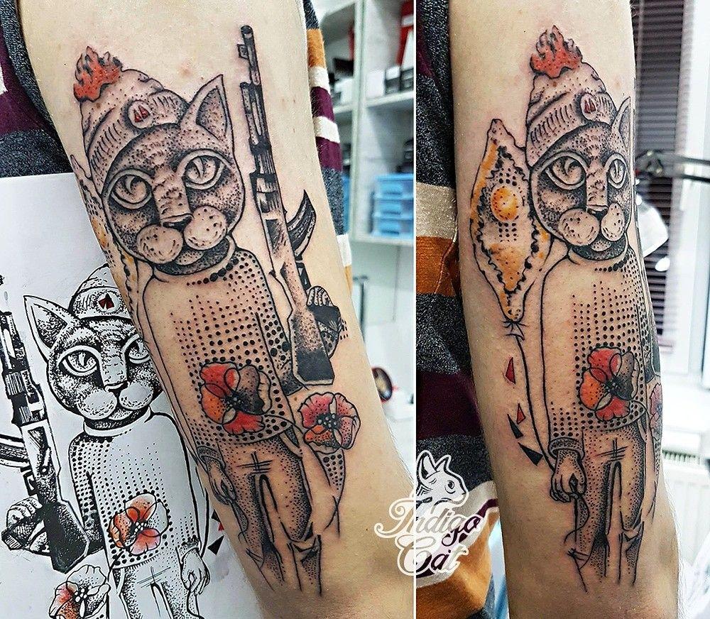 Tattoo Studio Indigo Cat Tbilisi Georgia Tattoo Studio Tattoos Cat Tattoo