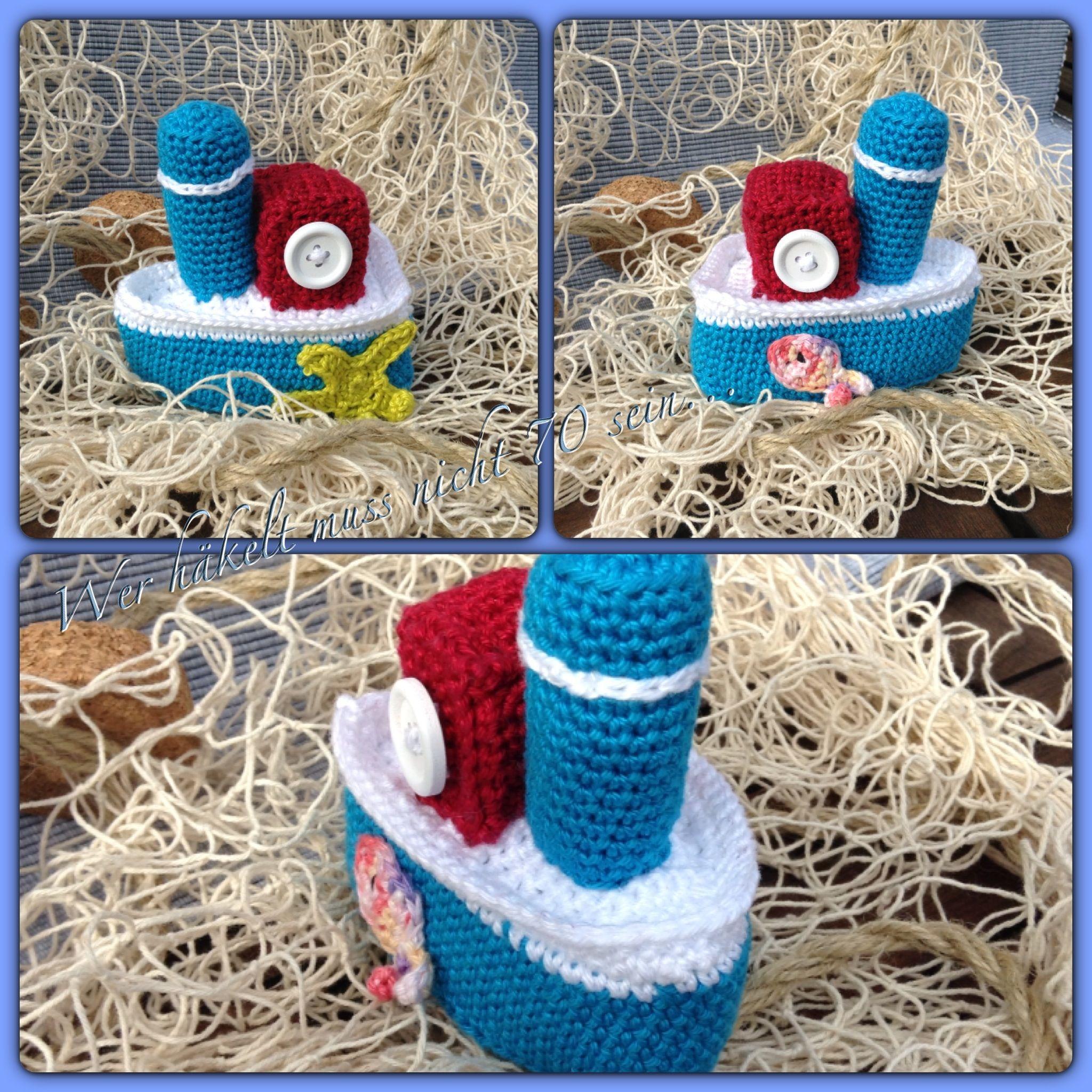 gehäkeltes Boot / crochet boat | Crochet lovely things | Pinterest ...
