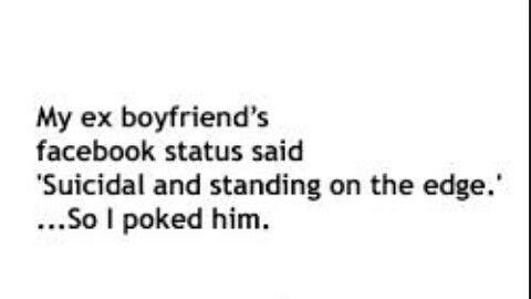 My ex boyfriends status | quotes | Dad jokes, Ex boyfriend, Math