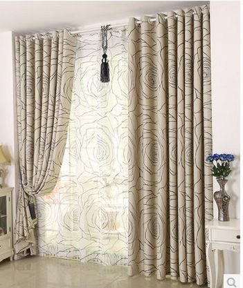 Pas cher Simple moderne rideau chambre rideaux fini personnalisation ...