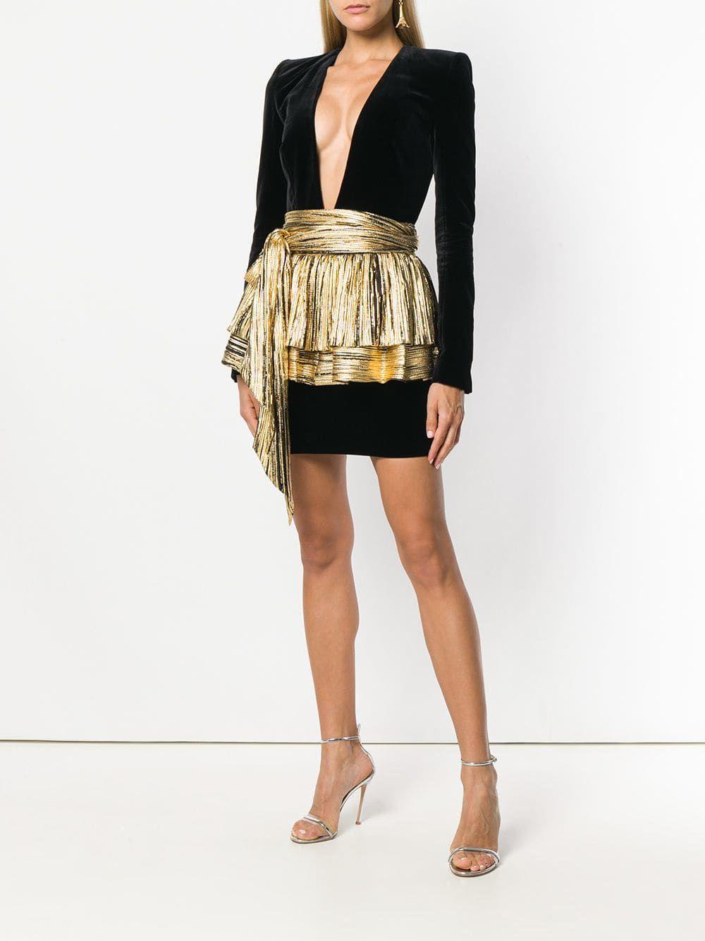 407163ef Alexandre Vauthier deep V-neck dress | Alexandre Vauthier in 2019 ...