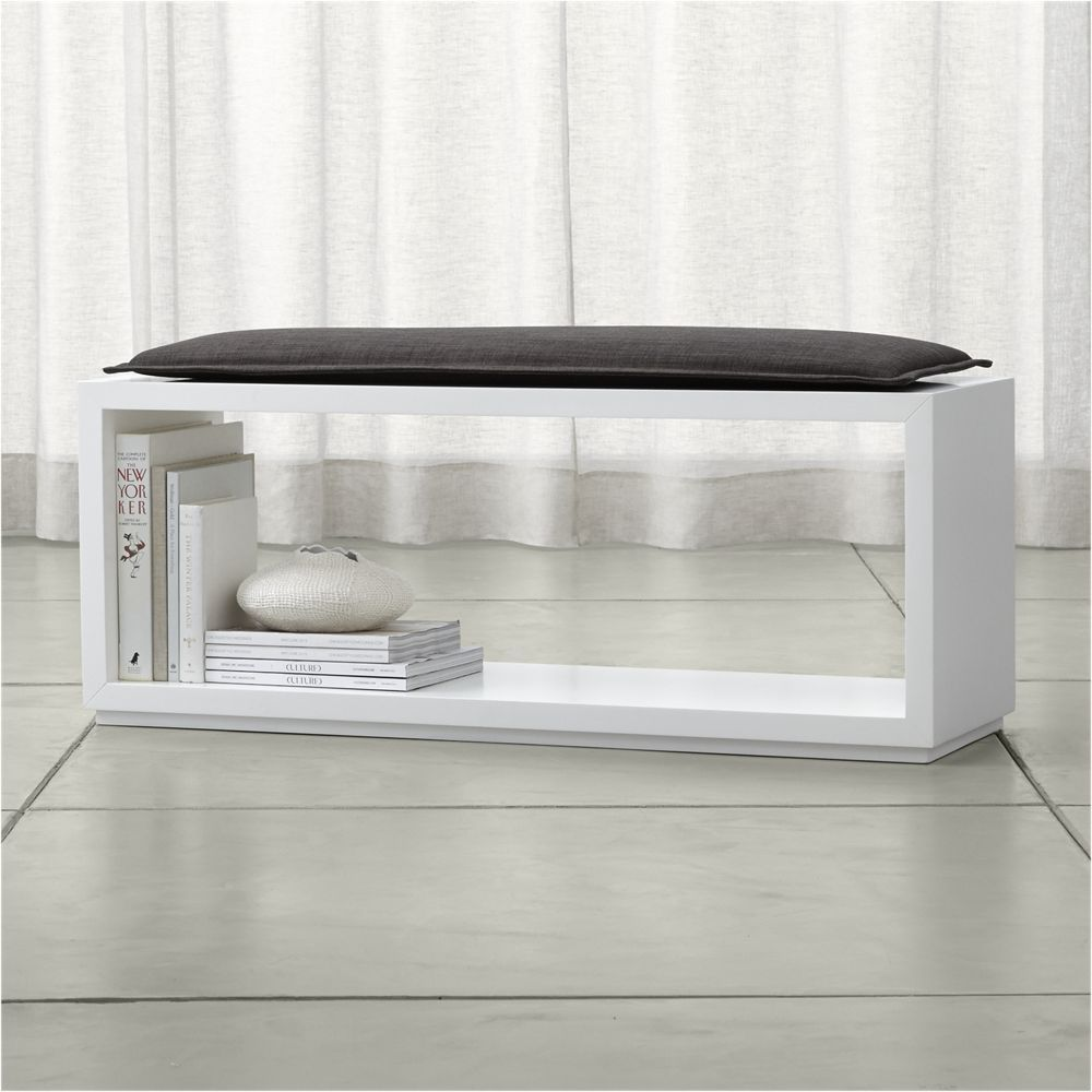 Aspect 47 5 open bench with cushion crate and barrel