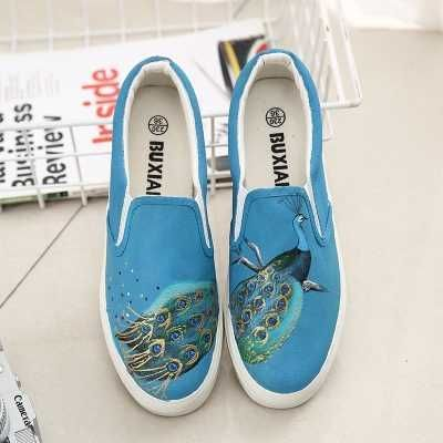 20182017 Fashion Sneakers Shoes 18 Womens Canvas Slip on Shoes Flats 5 Colors For Sale
