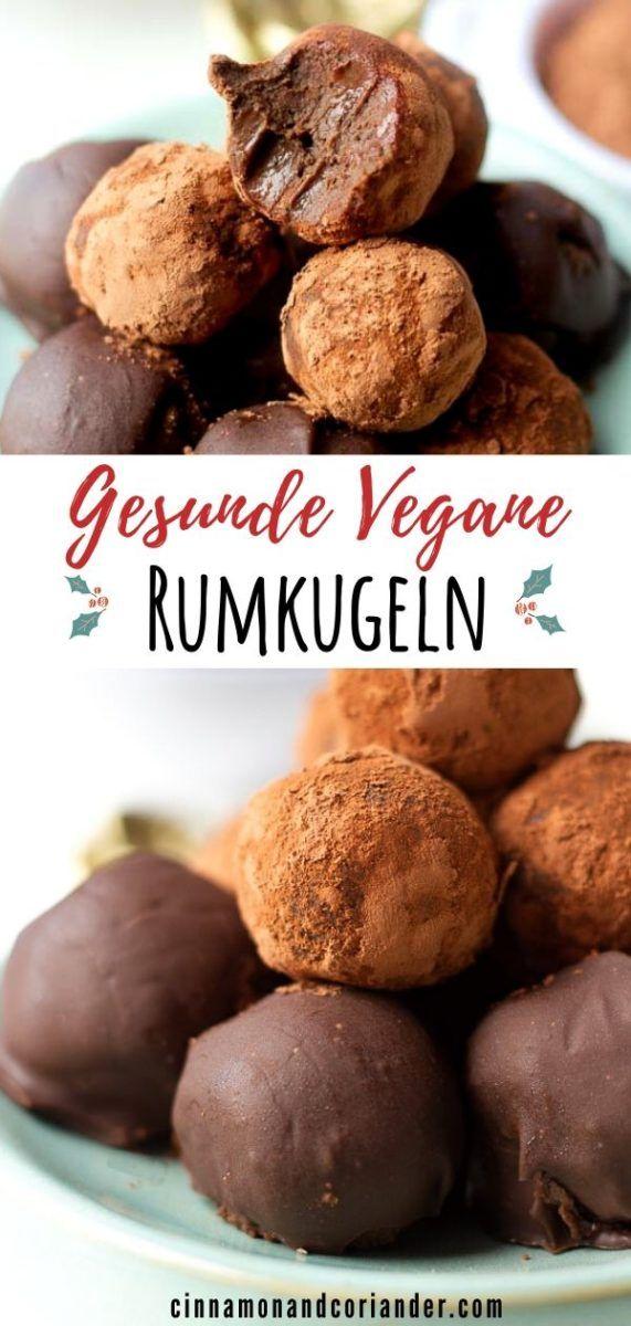 (Deutsch) Vegane Rumkugeln Selber Machen (Ohne Rum, Zucker-frei & Gesund)