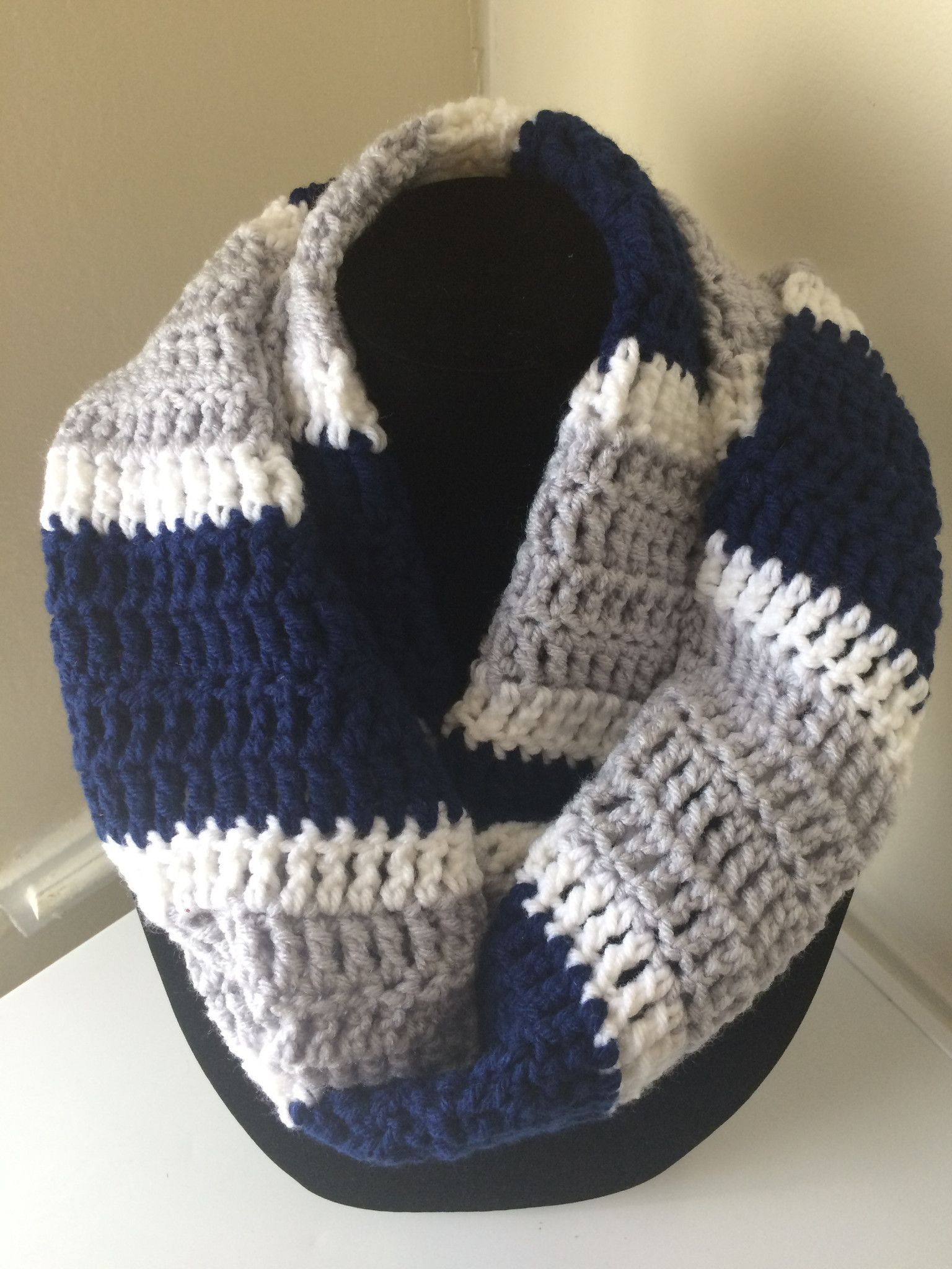 Dallas Cowboys Inspires Football Infinity Scarf and Beanie Crochet ...