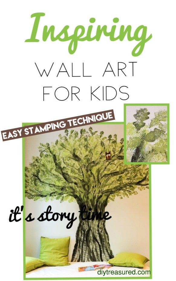 Cozy reading area for kids. Paint an old oak tree on the wall. Add ...