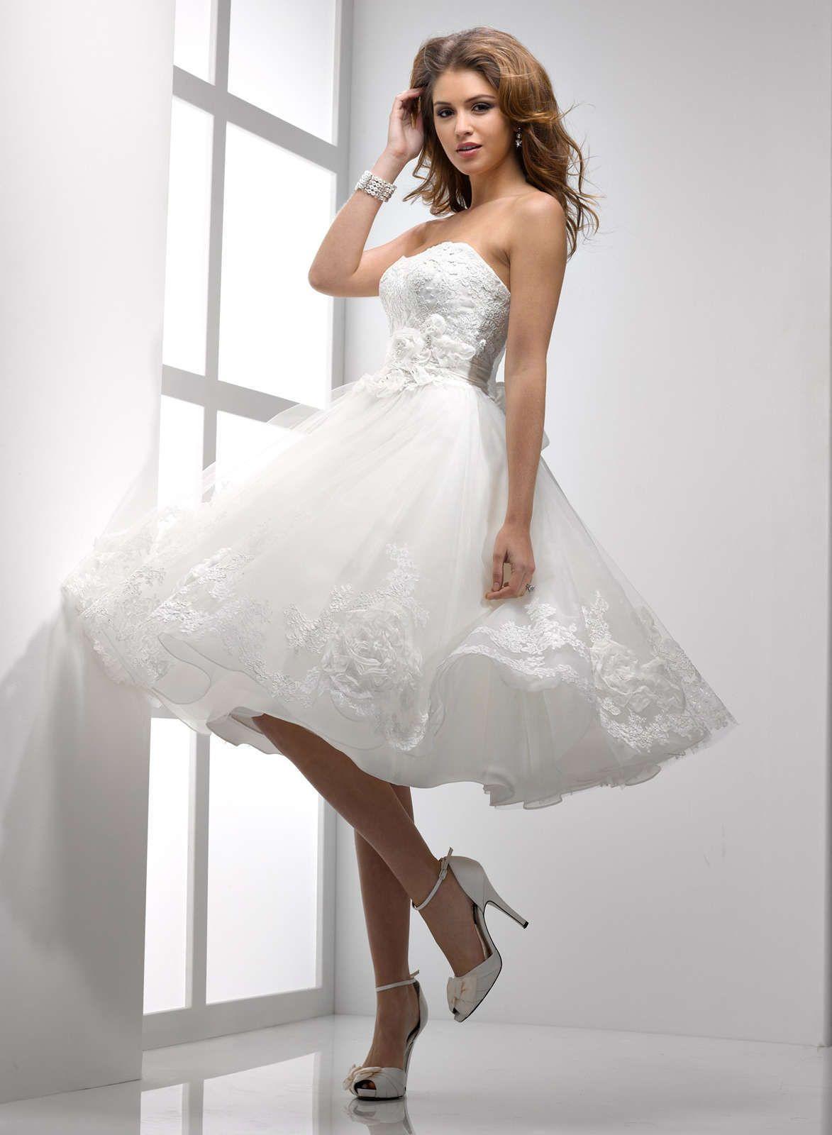 Outstanding Short White Wedding Reception Dresses Embellishment ...