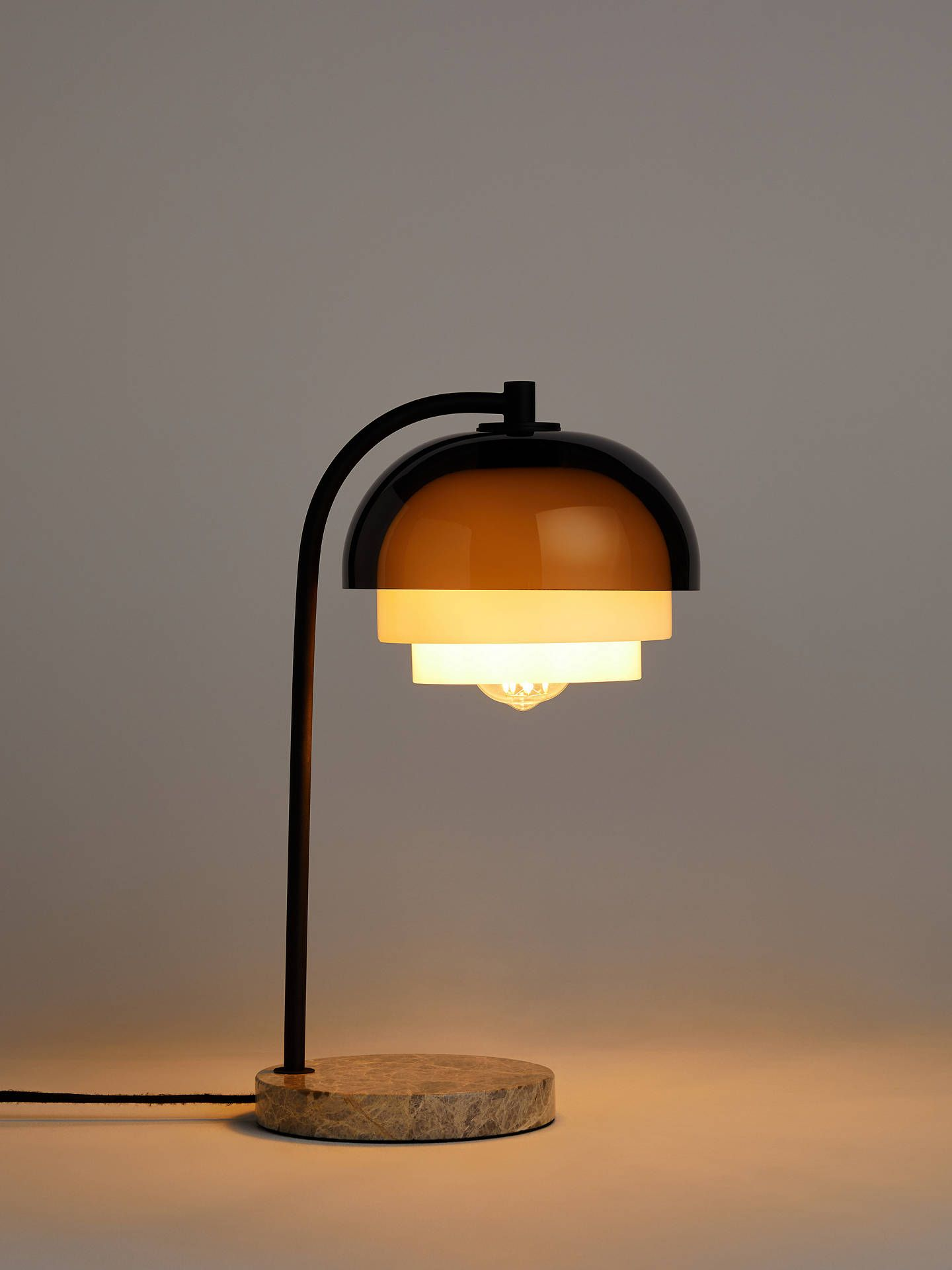 Design Project By John Lewis No 210 3 Tier Table Lamp Smoke Grey Table Lamp Lamp Smoke Grey