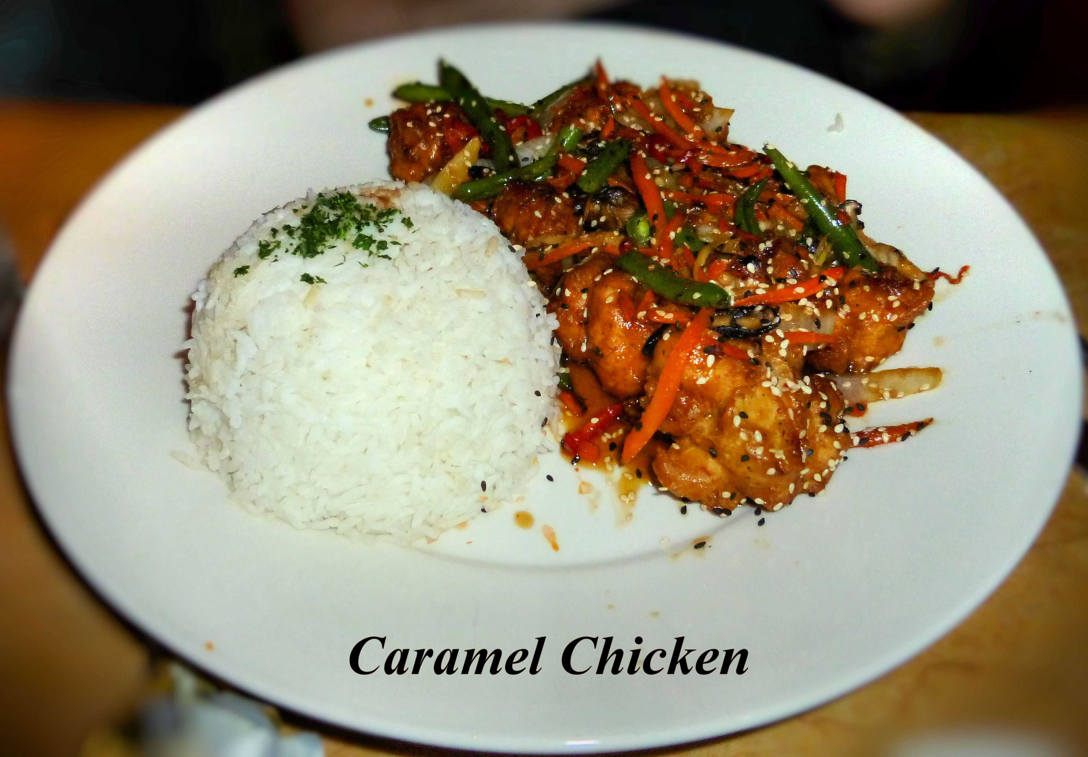 Cheesecake Factory's Caramel Chicken. Crispy Battered ...