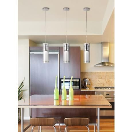 Cylindrical Frosted Glass Pendant Chandelier