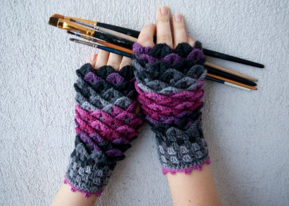 Crocodile Stitch Gloves | Crafty Crochet Cathy | Pinterest | Häkeln