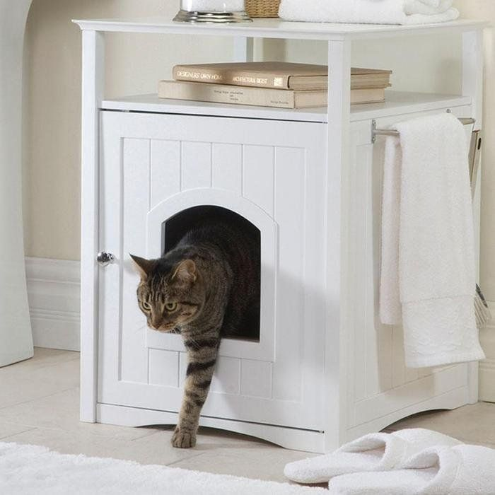 Multi Function Pet House 105 Litter Box Furniture Pet Friendly Furniture Home