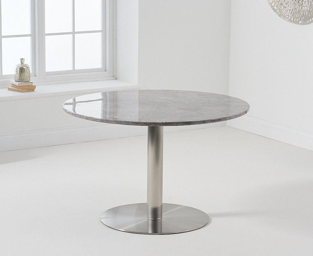 Mark Harris Battista Round Grey Marble Effect Top 120cm Dining