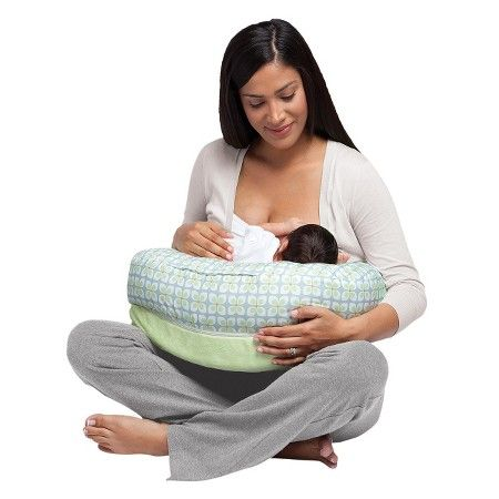 Boppy 2 Sided Soft and Firm Nursing Pillow - Green Pinwheels