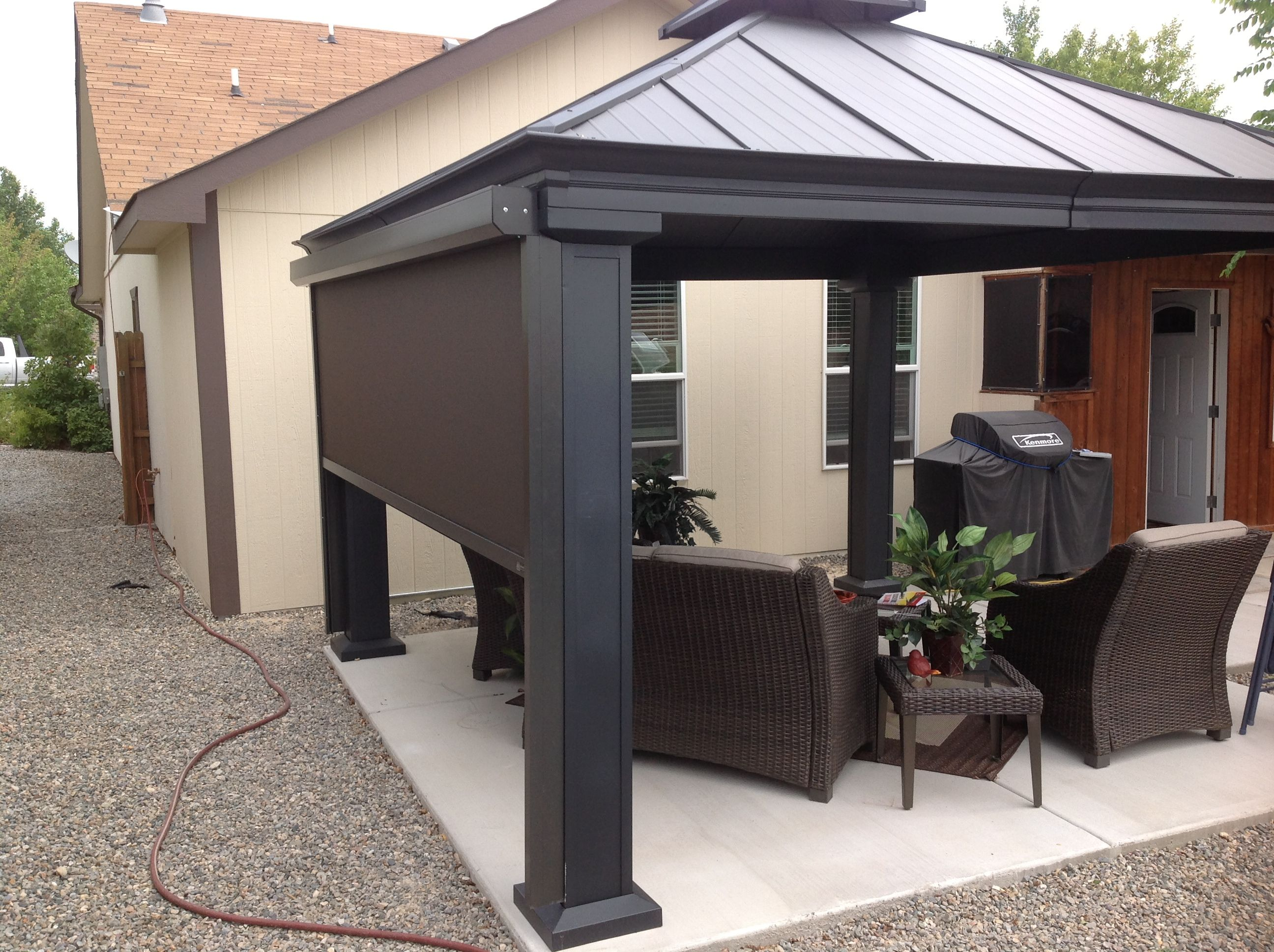 Exterior Screen Shades Are Perfect To Shade Outdoor Living