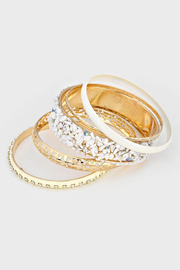 Danica Bracelet In White Marble Extraordinary Jewelry