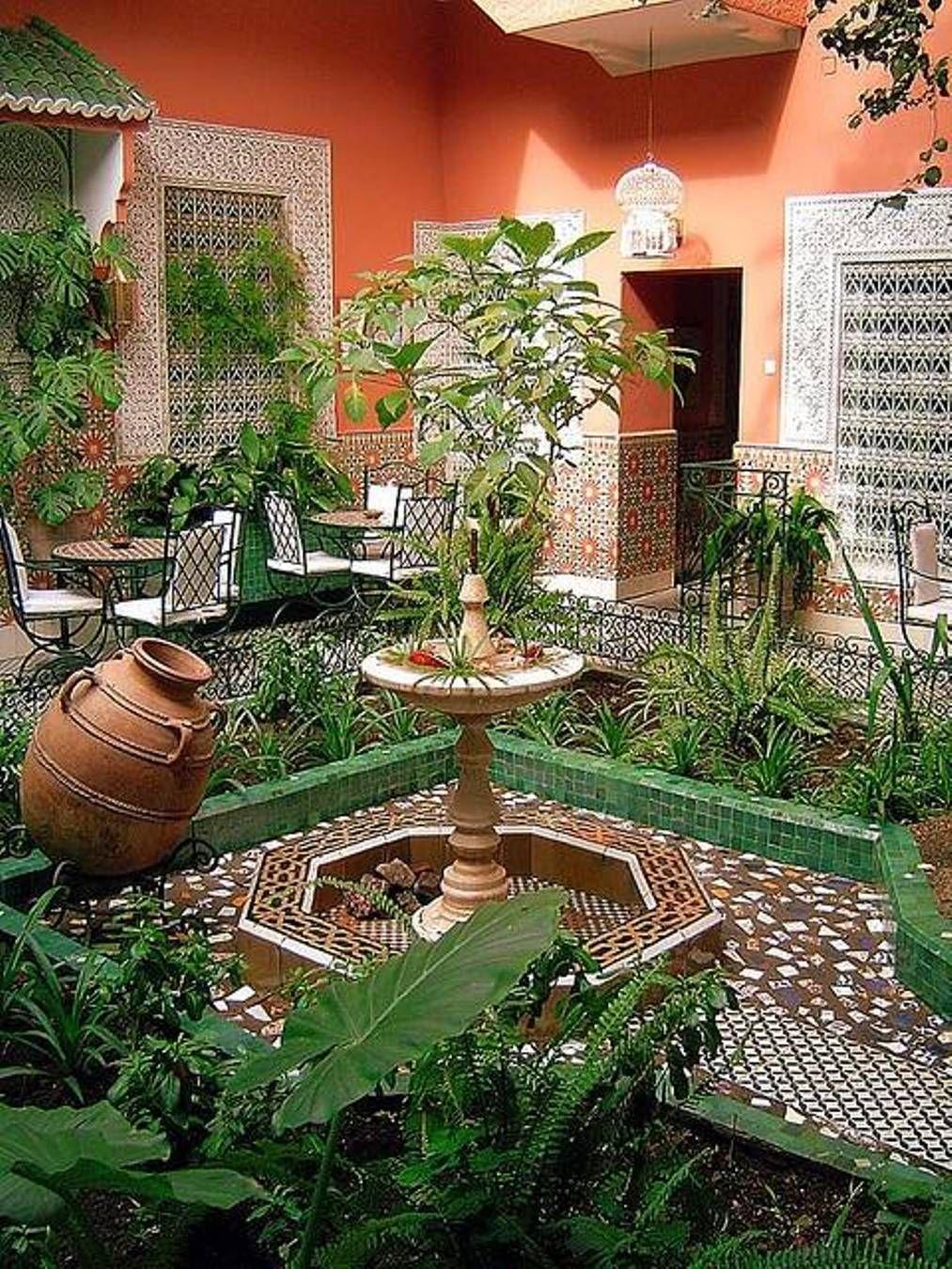 Garden And Lawn , Moroccan Home Gardens : Moroccan Home Gardens With ...