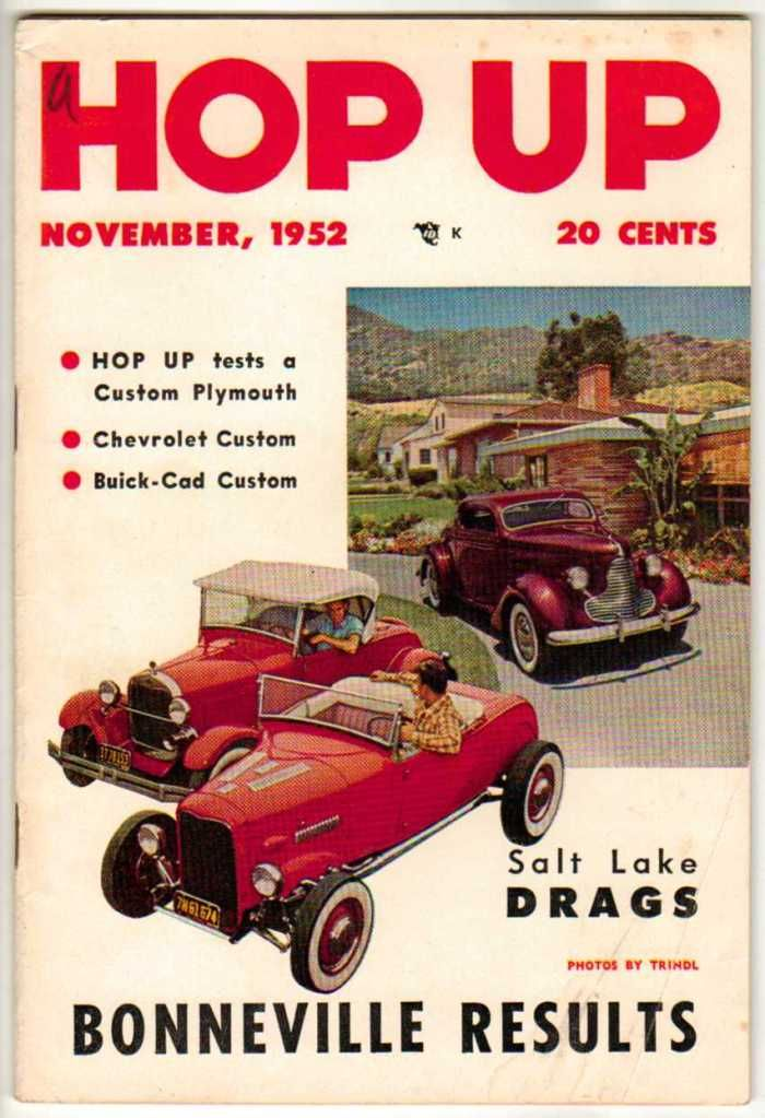 Hop Up November 1952 Old Vintage Car Magazine Classic Custom Hot ...