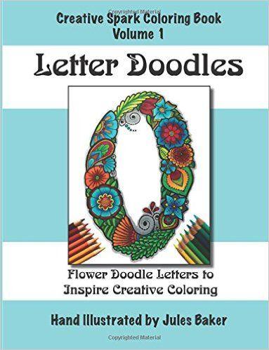 Amazon Creative Spark Coloring Book Letter Doodles Books